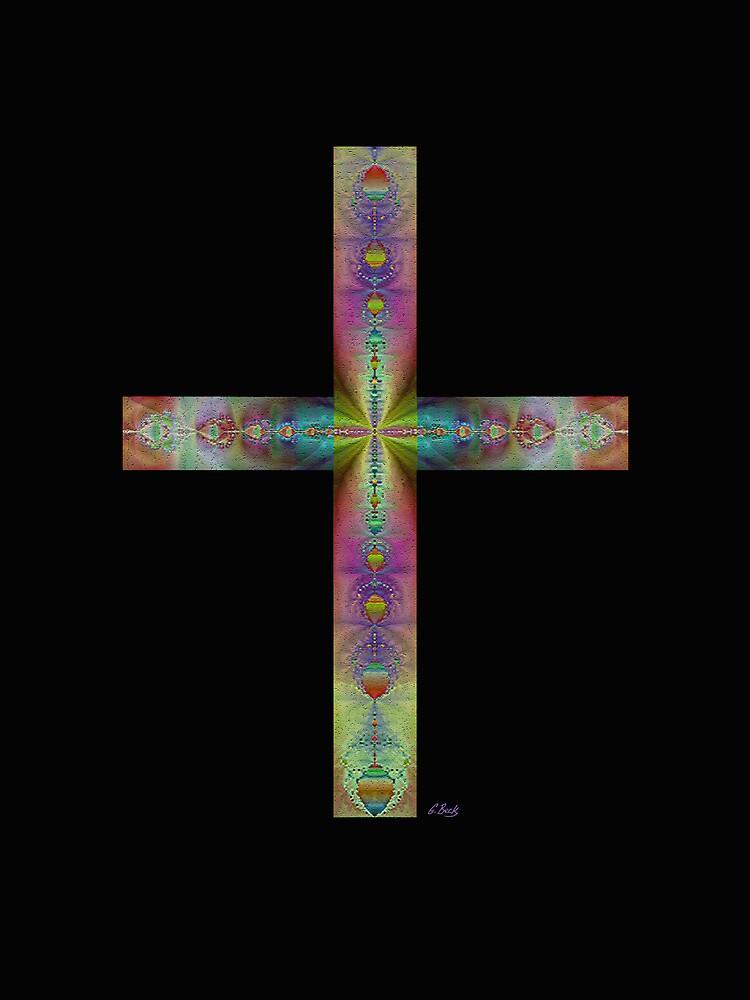 Jeweled Cross on Black by Gordon Beck