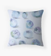 Summer Blueberries Throw Pillow