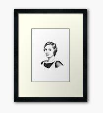 Lady Edith Crawley Framed Print