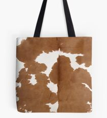 Cowhide tan and white | Texture Tote Bag
