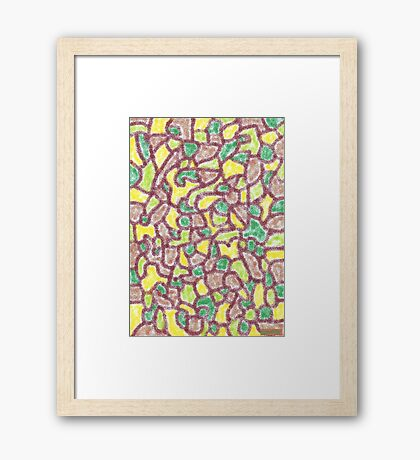 2301 - Colours of the Earth in Harmonic Fields Framed Print