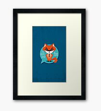 Stay clever, little fox Framed Print