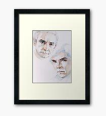John & Sherlock Eyes Framed Print