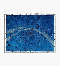 ASTRONOMIE NORDKONSTELLATIONEN; Vintage Karte drucken Fotodruck