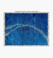 Lámina fotográfica ASTRONOMÍA CONSTELACIONES DEL NORTE; Mapa Vintage Imprimir