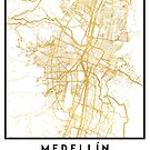 MEDELLÍN COLOMBIA CITY STREET MAP ART by deificusArt