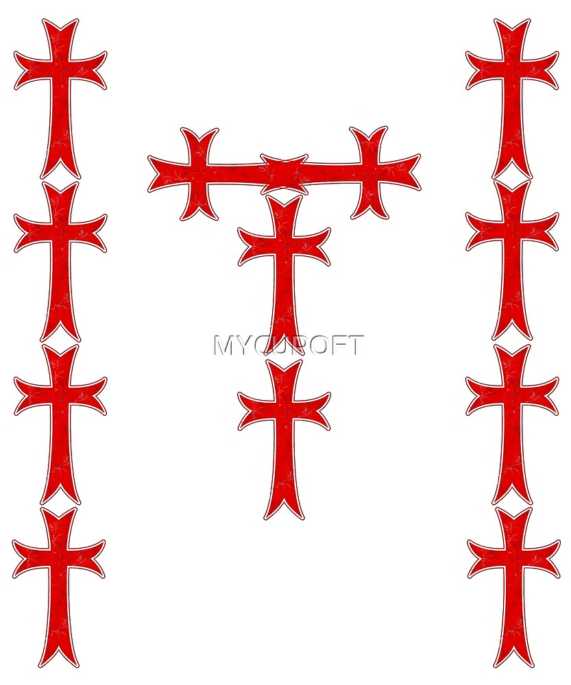 Knights Templar Distressed Cross T Shirt By Mycupoft Redbubble