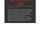 H1Z1 Game Error G99 by sogr00d