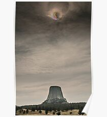 Devils Tower Eclipse Poster