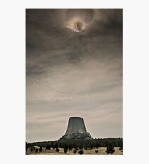 Devils Tower Eclipse Photographic Print