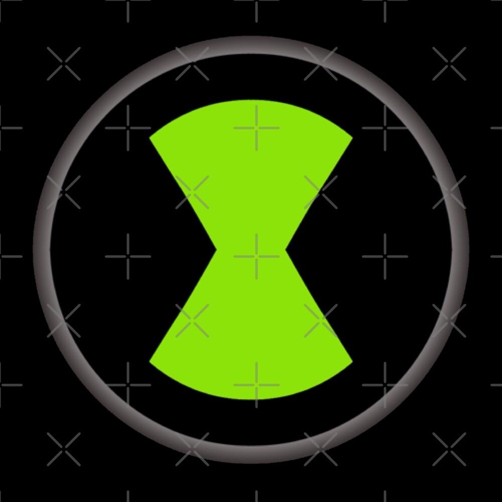 Ben 10 Omnitrix Logo By Purrfectcatnoir Redbubble