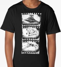 Spaceship Vintage Geek Movie Long T-Shirt