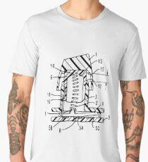 Buckling Spring Patent Drawing Men's Premium T-Shirt