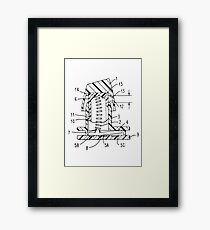 Buckling Spring Patent Drawing Framed Print