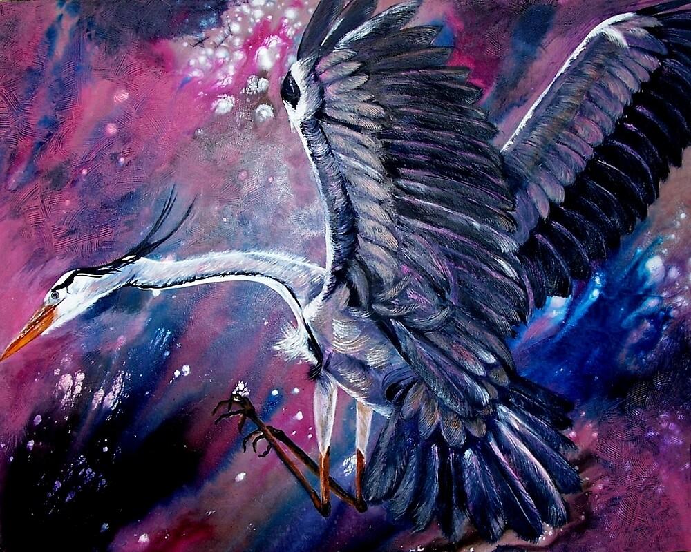 Heron Flight by Ciska