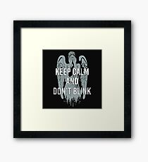Weeping Angel With Don't Blink Text Framed Print