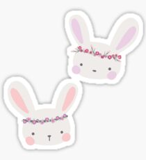 Boho Bunnies Sticker