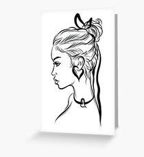 Fashion Girl Greeting Card