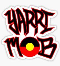 Yarri Mob Graffiti - Aboriginal Flag 3 Sticker