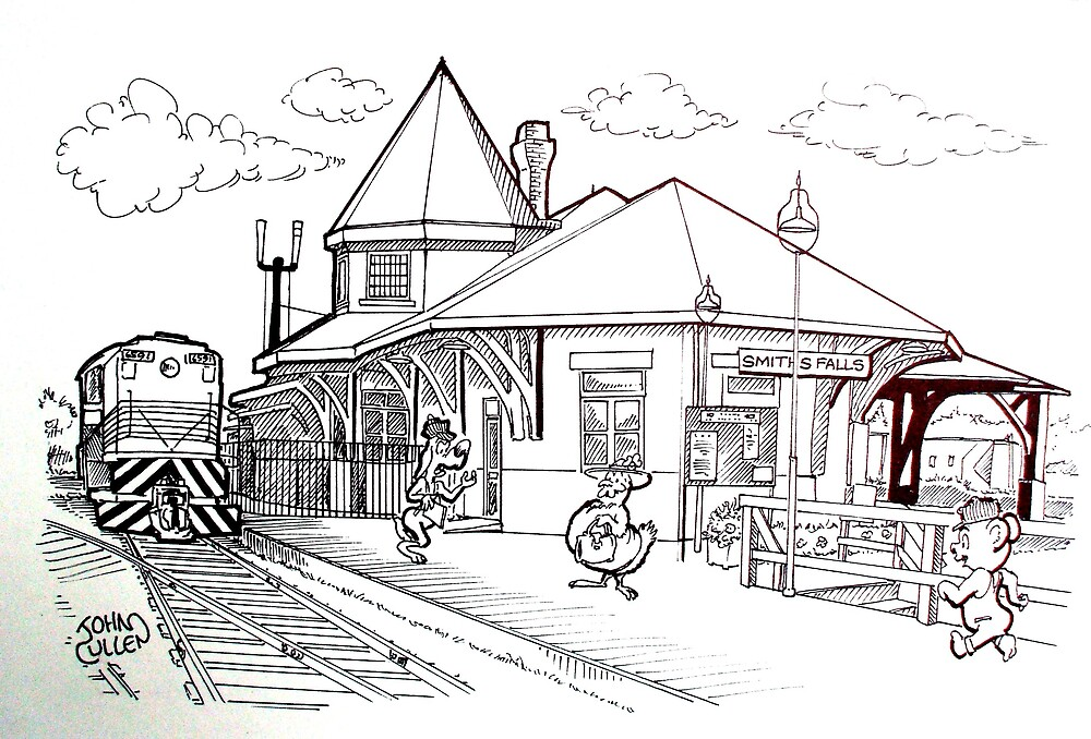 Railway Station Museum,Smiths Falls Ontario by John W. Cullen