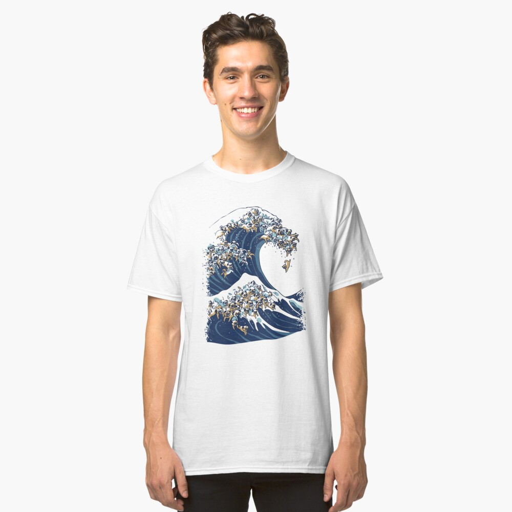 The Great Wave of Pug Classic T-Shirt