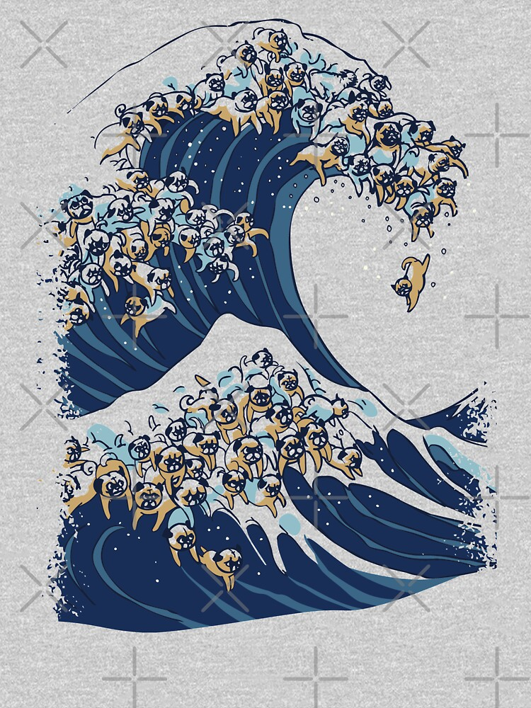 The Great Wave of Pug by Huebucket
