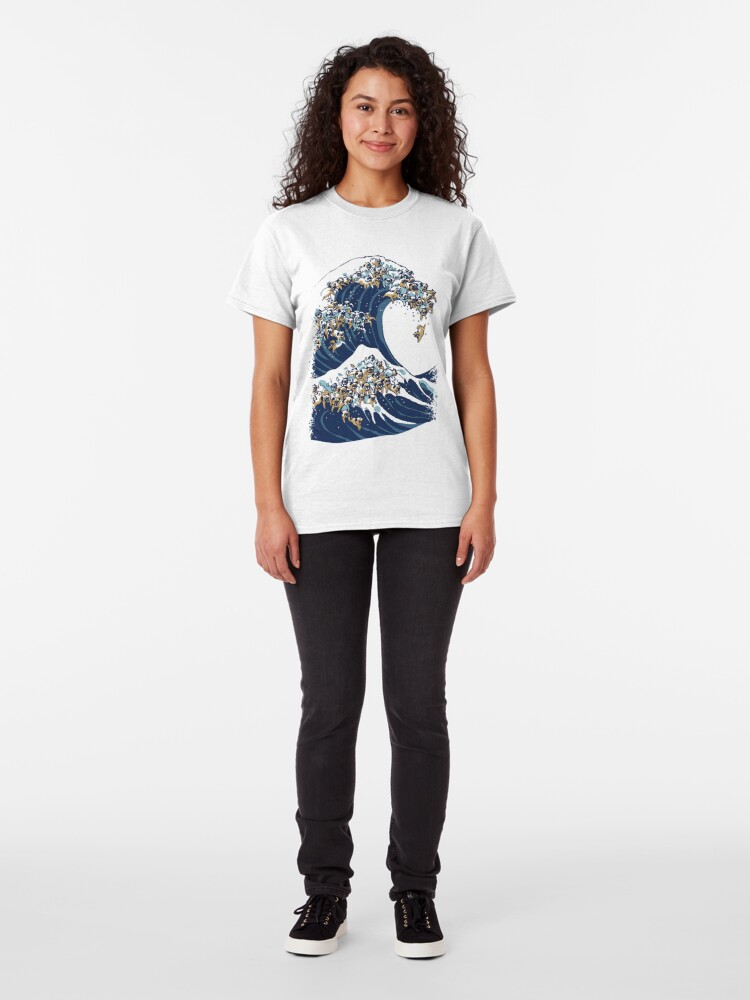 Alternate view of The Great Wave of Pug Classic T-Shirt