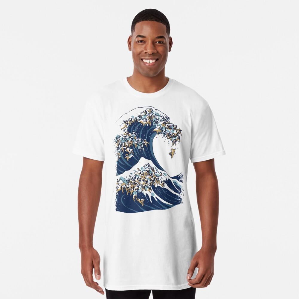 Die große Welle des Mops Longshirt