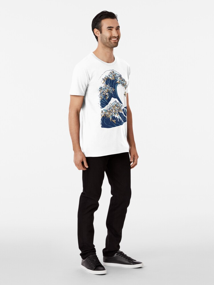 Alternate view of The Great Wave of Pug Premium T-Shirt
