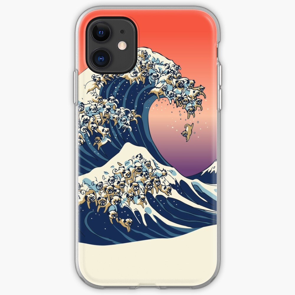 The Great Wave of Pug iPhone Case & Cover
