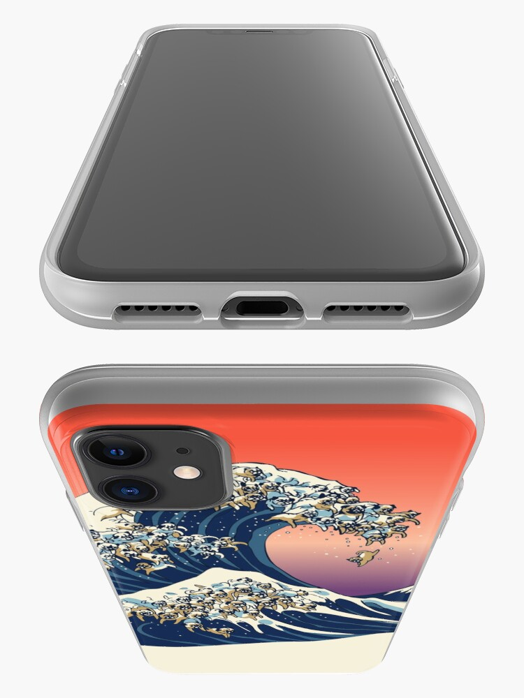 Alternate view of The Great Wave of Pug iPhone Case & Cover