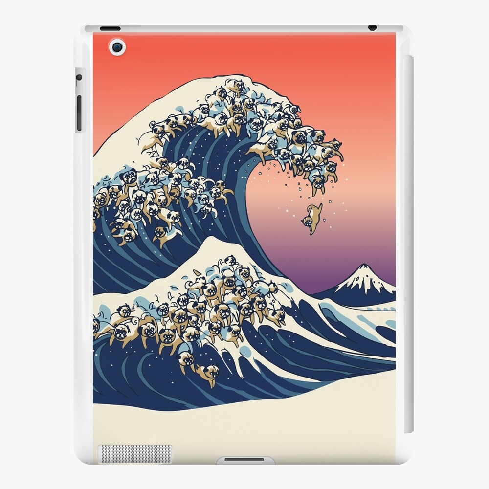 The Great Wave of Pug iPad Cases & Skins