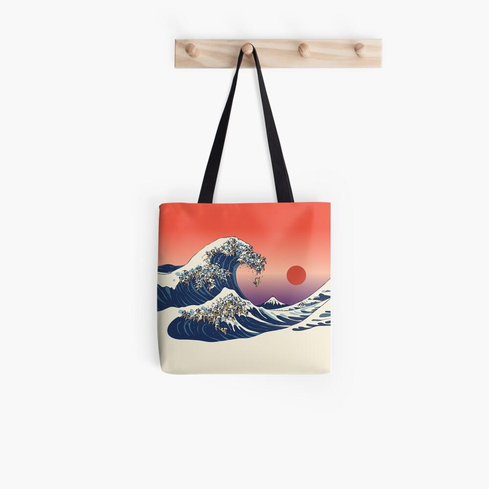 Die große Welle des Mops Tote Bag