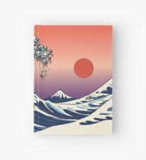 Cuaderno de tapa dura La gran ola de barro amasado