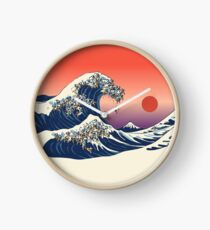 The Great Wave of Pug Clock