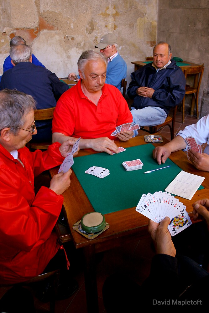 The Card Players, Sorrento, Italy by David Mapletoft