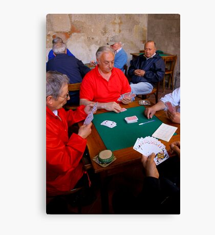 The Card Players, Sorrento, Italy Canvas Print