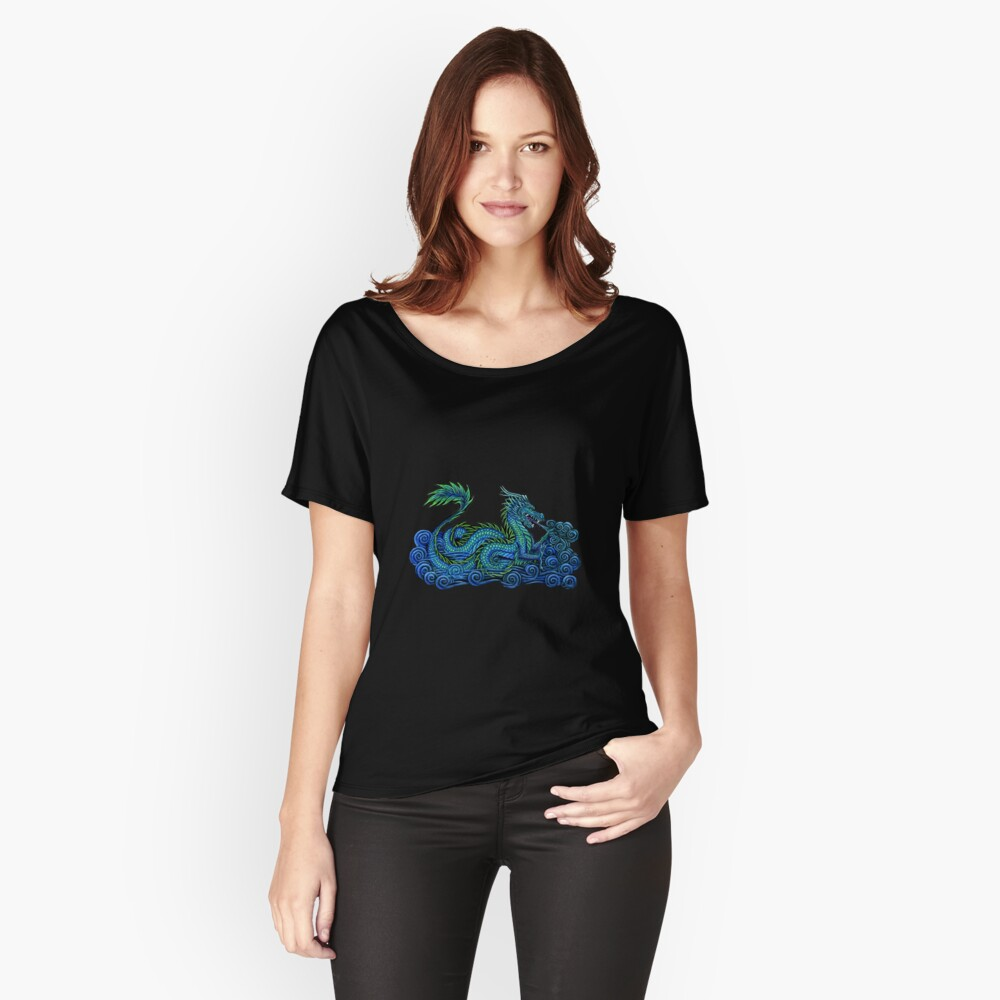Chinese Azure Dragon Women's Relaxed Fit T-Shirt Front