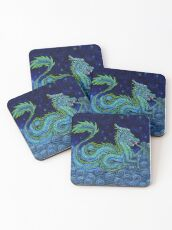 Chinese Azure Dragon Coasters