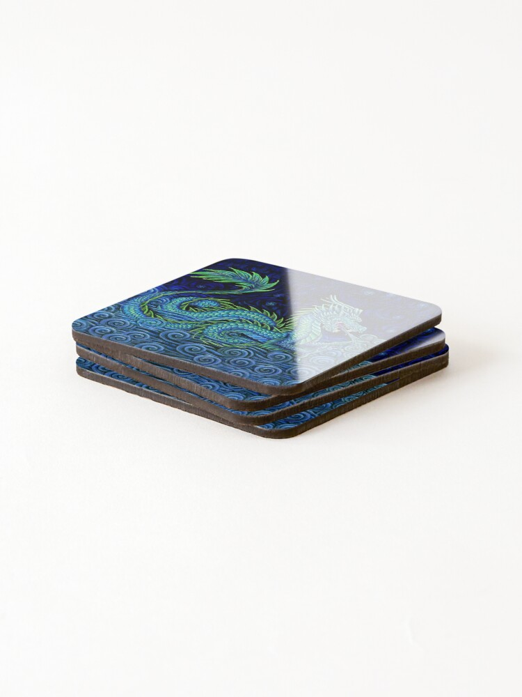 Alternate view of Chinese Azure Dragon Coasters (Set of 4)