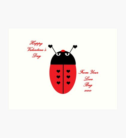 Love Bug (Valentine's Day) Art Print