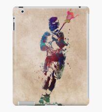 Lacrosse player art 2 #sport #lacrosse iPad Case/Skin