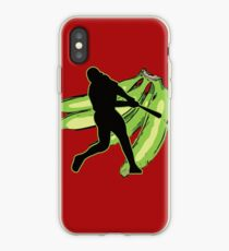 Dominican and Puerto Rican Baseball and Plantains iPhone Case