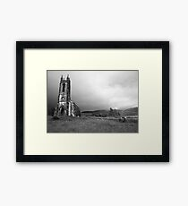 Dunlewey church black and white Framed Print