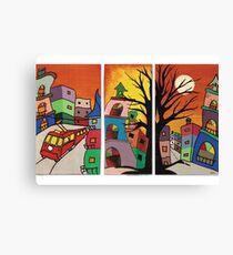 colourful city Canvas Print