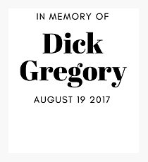 Dick Gregory Comedian Photographic Print