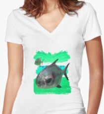 License to Fish Women's Fitted V-Neck T-Shirt