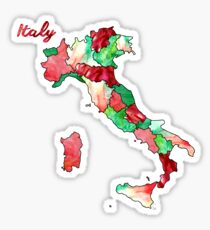 Watercolor Countries - Italy Sticker