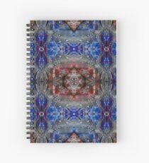 Cuaderno de espiral Plumas en rojo y azul