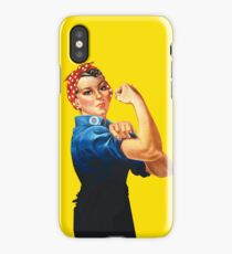 Rosie The Riveter Retro Style design iPhone Case/Skin